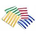 Colour coded stockinette cleaning cloth